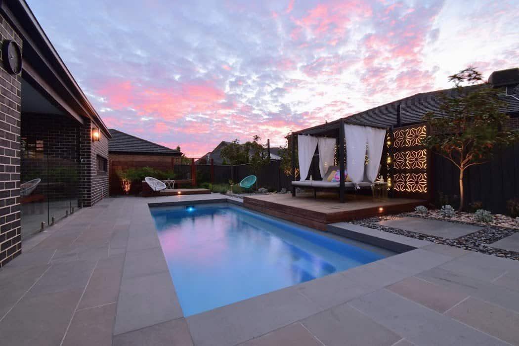 Peaceful Pool at Sunset